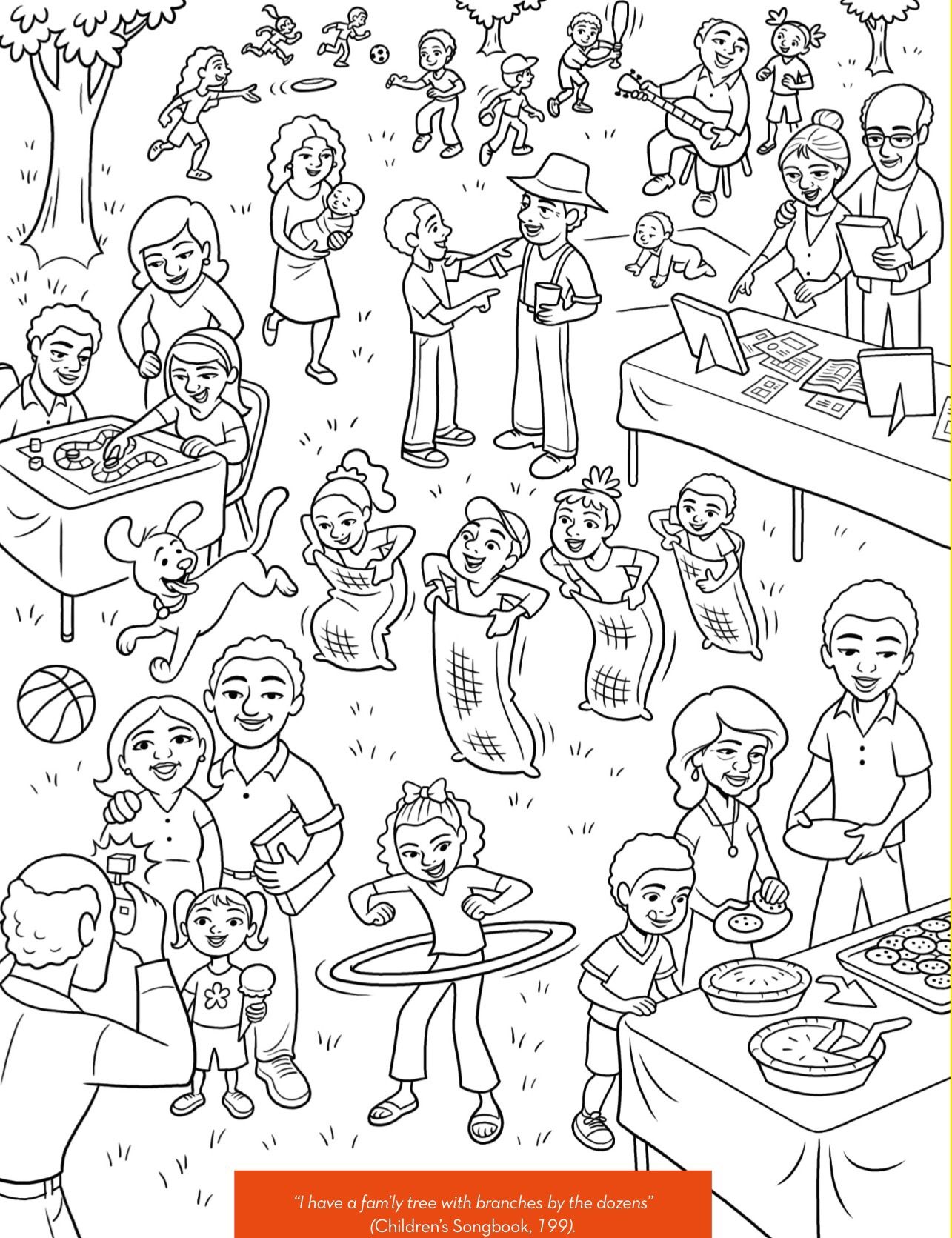 Easter Coloring Pages and Printouts for Kids: Free Family coloring pictures for kids