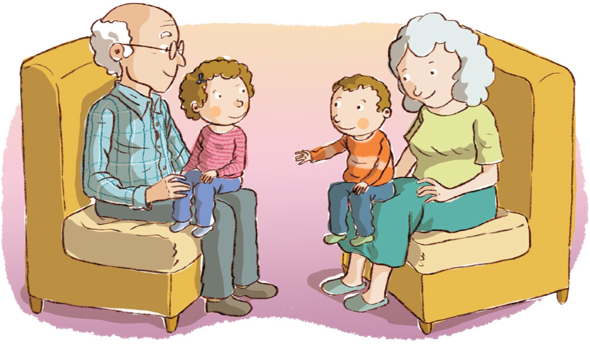 Grandparents/Elderly Clipart - Teaching LDS Children Grandparents Family Clipart
