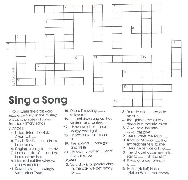 LDS Word Puzzles