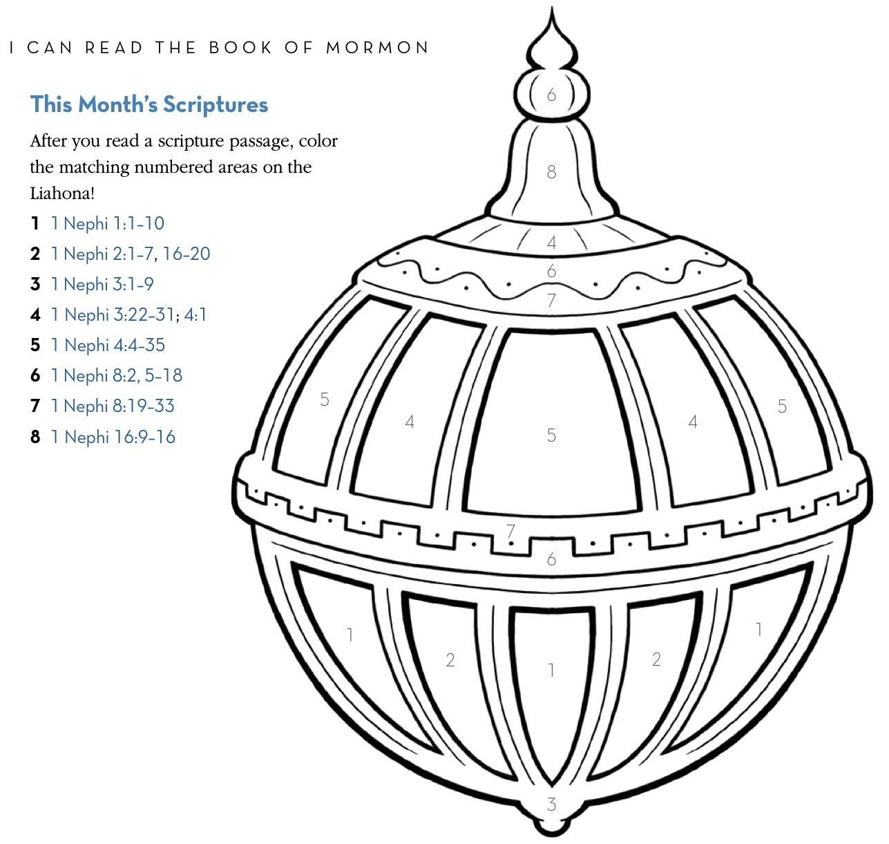 coloring pages nephi liahona - photo#26