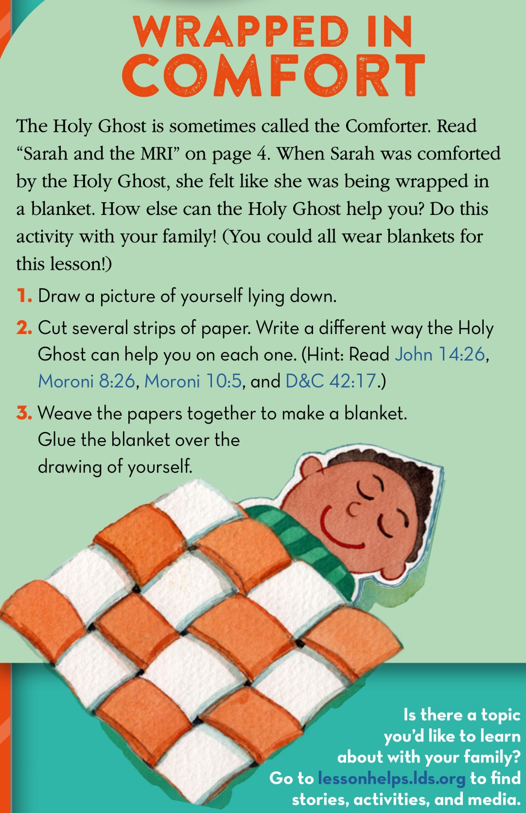 Holy Ghost: Lesson Ideas - Teaching LDS Children